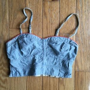 American Eagle Outfitters Chambray Neon Bralette S